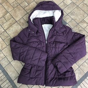 Hollister Sherpa Lined Hooded Puffer Coat